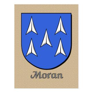 Escudo heráldico de la familia de Moran Postal