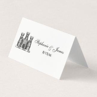Escudo heráldico del escudo de armas del emblema tarjeta de asiento