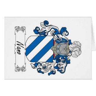 Escudo nano de la familia tarjetas