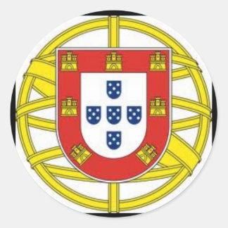 Escudo Portugues Aesivo del pegatina del globo de