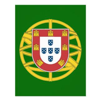 Escudo portugués folleto 21,6 x 28 cm