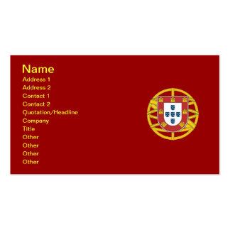 Escudo portugués tarjetas de visita
