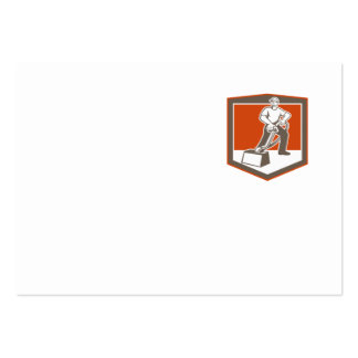 Escudo que limpia con la aspiradora del limpiador  tarjetas de negocios