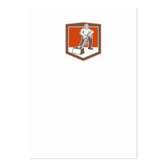 Escudo que limpia con la aspiradora del limpiador  tarjeta de visita