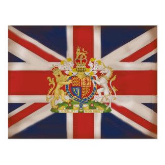 Escudo real en la bandera de Union Jack Postal