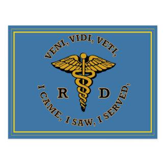 Escudo registrado del caduceo VVV del RD el Postal
