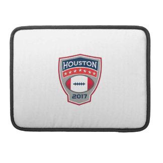 Escudo Retr del gran juego del fútbol americano de Funda Para MacBook Pro