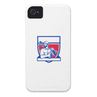 Escudo sin cuerda de Paintroller del taladro de la Carcasa Para iPhone 4 De Case-Mate