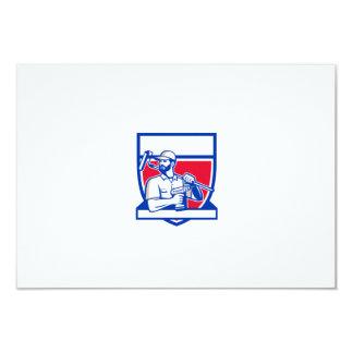 Escudo sin cuerda de Paintroller del taladro de la Invitación 8,9 X 12,7 Cm