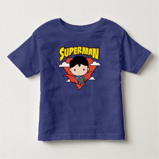 Escudo y nombre del lunar del superhombre de Chibi Camiseta De Bebé