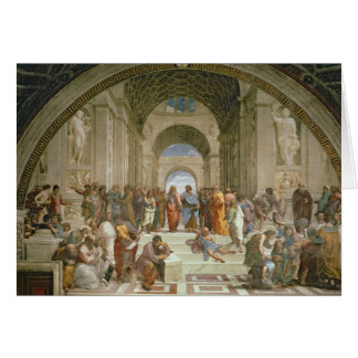 Escuela de Atenas, del della de la estrofa Tarjeta