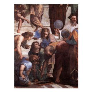 Escuela de Atenas (detalle - Euclid) Postal