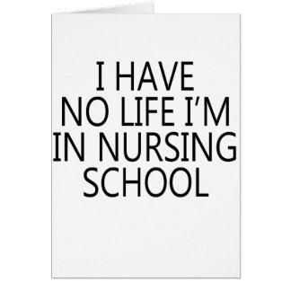 escuela de enfermería tarjeta de felicitación