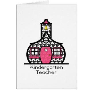Escuela de Houndstooth del maestro de jardín de in Felicitación