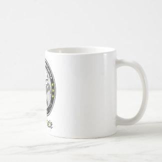 Escuela de la universidad dura de los golpes de la taza de café