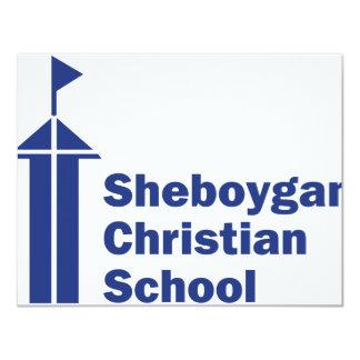 Escuela del cristiano de Sheboygan Invitación 10,8 X 13,9 Cm