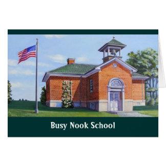 Escuela ocupada del escondrijo tarjeta pequeña