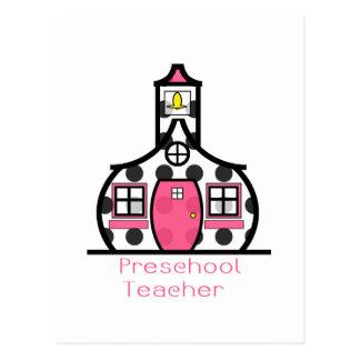 Escuela preescolar del lunar del profesor postales