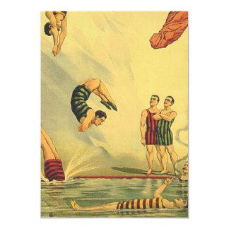 Escuela vieja del salto SUPERIOR Invitación 12,7 X 17,8 Cm