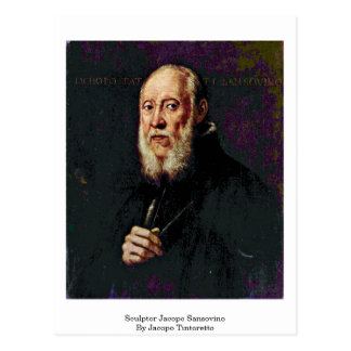 Escultor Jacopo Sansovino de Jacopo Tintoretto Postal