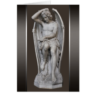 Escultura CC0930 de Guillaume Geefs Lucifer Tarjeta Pequeña
