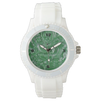 escultura china del dragón del jade verde reloj