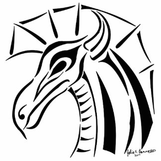 Escultura con cresta de la foto del dragón escultura fotografica