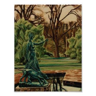 Escultura de Diana Artemis en jardines Impresiones Fotograficas