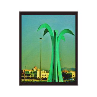 Escultura de la palmera lienzo