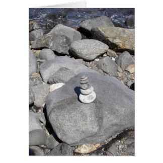 Escultura de la roca tarjeta