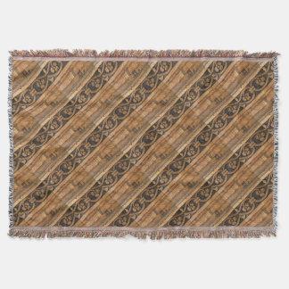 escultura de madera del panel manta tejida