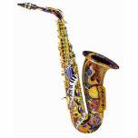 Escultura del saxofón del regalo del músico de jaz escultura fotografica