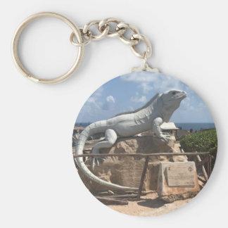 Escultura Isla Mujeres, llavero de la iguana de