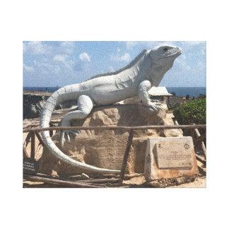 Escultura Isla Mujeres, lona de la iguana de Impresión En Lienzo