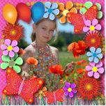 Esculturas del cumpleaños: Mariposas y flores Escultura Fotográfica