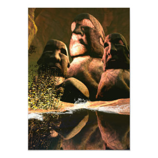 Esculturas impresionantes invitación 12,7 x 17,8 cm
