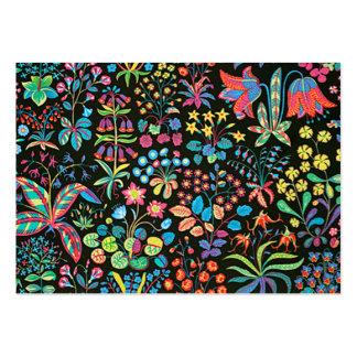 escuro floral del fundo del em del padrão tarjetas de visita grandes