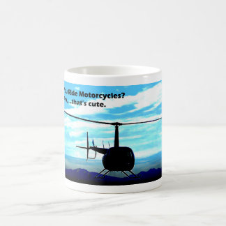 Ése es helicóptero lindo taza de café
