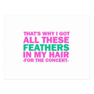 Ése es porqué conseguí todas estas plumas en mi postal