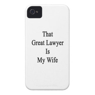 Ese gran abogado es mi esposa iPhone 4 cárcasa