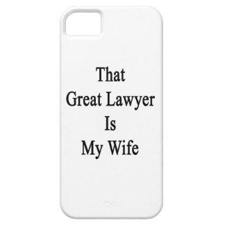 Ese gran abogado es mi esposa iPhone 5 fundas