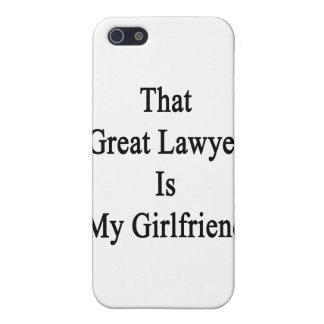 Ese gran abogado es mi novia iPhone 5 cárcasas