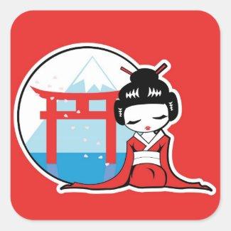 Esencia de Japón Pegatina Cuadradas Personalizadas