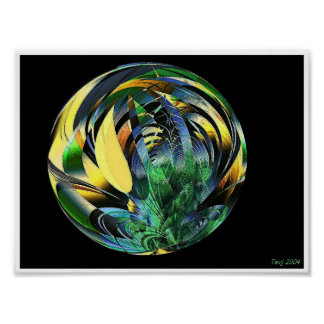 Esfera del en de los cactus poster