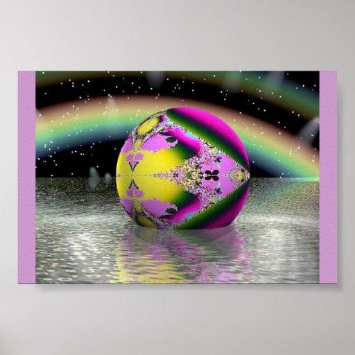 Esfera en colores pastel del arco iris del diamant impresiones