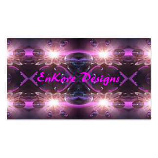 Esfera violeta tarjetas de visita
