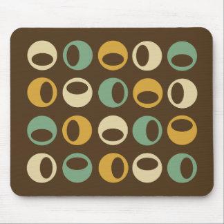 Esferas modernas retras abstractas Mousepad