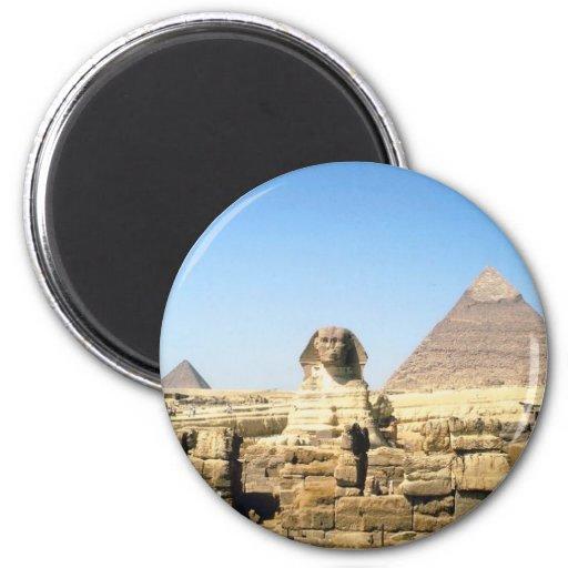 Esfinge y pirámide imán para frigorifico