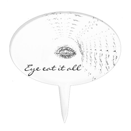 Esloganes del ojo decoraciones de tartas