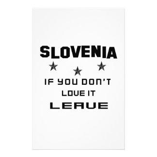 Eslovenia si usted no la ama, se va papelería de diseño
